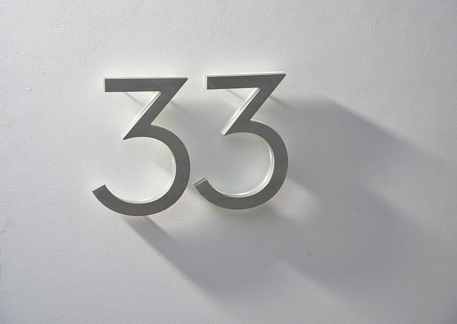 LED Backlit Neutra House Numbers Luxello Feathering My Nest