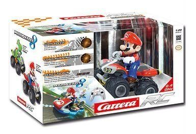 Carrera Mario Kart 8 2 4 Ghz Rc Car By Carrera Original Licensed Mario 1 20 Scale Kart 8 And Figure 2 4ghz Controller For Fas Mario Kart Mario Kart 8 Carrera