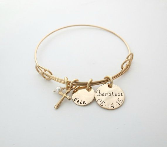 godmother gifts steel img bracelet christening expanded stainless bangle