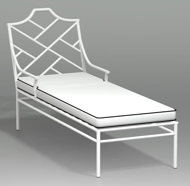 Chinese Chippendale Chaise Lounge