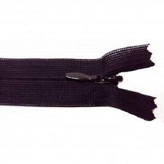 Fermeture invisible -  20-23 cm - noir -  non séparable  , 0,65 €