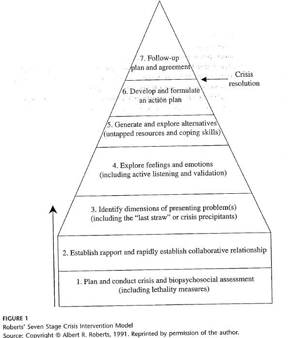7 Stage/Steps in Brief Crisis Intervention