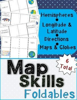 Geography map skills foldables interactive notebook gumiabroncs Choice Image