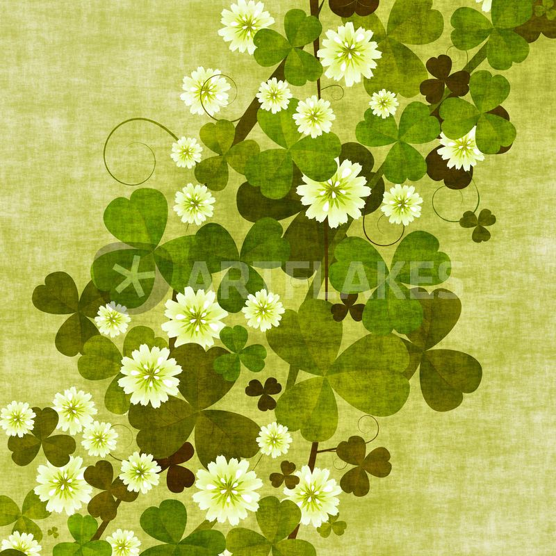 """ clover leaves"" Drawing art prints and posters by Richard Laschon - ARTFLAKES.COM"