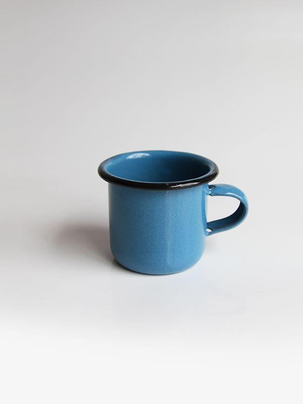 Pocillo azul #enamelware #peltre #azul #blue #criolla #colombia #design #coffee #tea #design