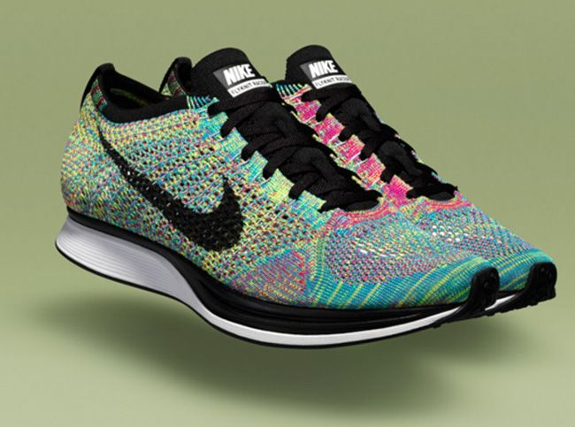 e3c94cbdadd4 Nike Flyknit Racer  by knitting thread into a single layer to fit around  your foot—instead of cutting and sewing together multiple  materials—engineers at ...