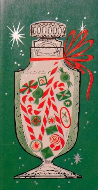 Mid-century modern Christmas card