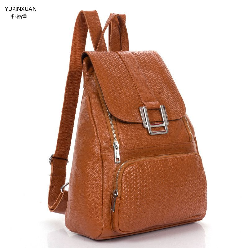 Yupinxuan Genuine Leather Backpacks For Women Cow Leather Backpack