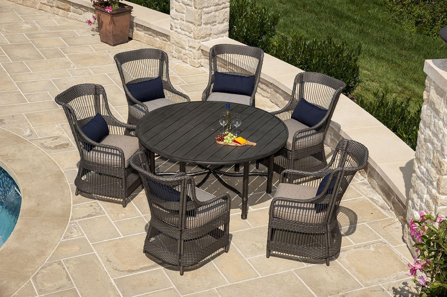 Lazboy outdoors juliette dining set patio furniture