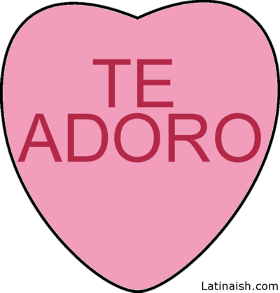 Spanish Conversation Hearts - Free Images! Fun idea for the tech ...