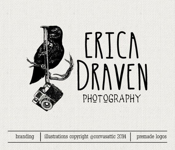 Crow head photography logo Eps and Png file by CorvusAttic, $13.00 ...