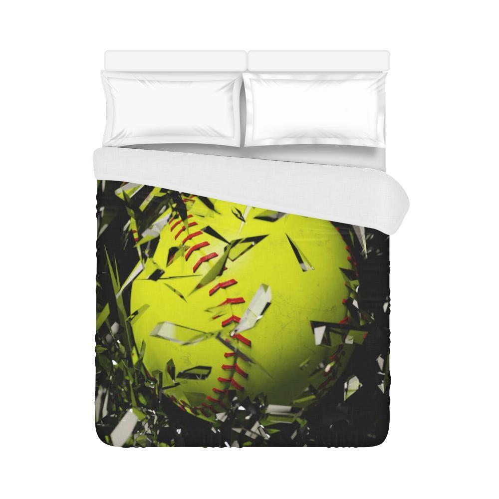 Softball Smasher Duvet Cover Full Size Full Duvet Cover Softball Bedding Set Softball Comforter
