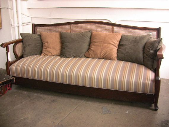 1920 S Cane Back Sofa By Fridaynightfun On Etsy 750 00