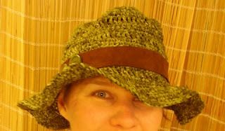Crocheted raffia hat. Can't wait for summer festivals to wear this :)