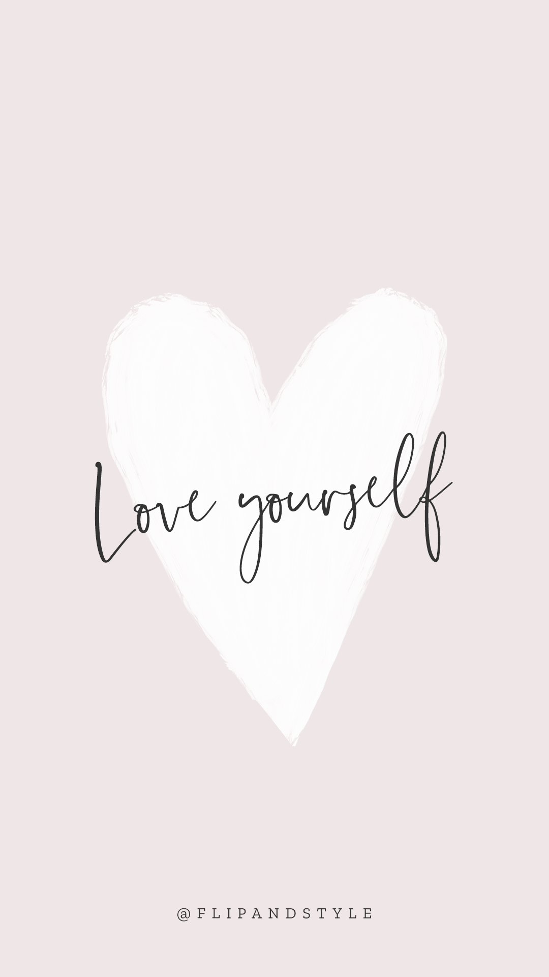 Love Yourself Free Pink Iphone Background Wallpaper Words