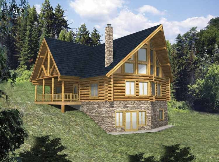 Log Houses House Plan With 3725 Square Feet And 3 Bedrooms S From Dream Home Source House P Log Cabin House Plans Log Cabin Floor Plans Basement House Plans