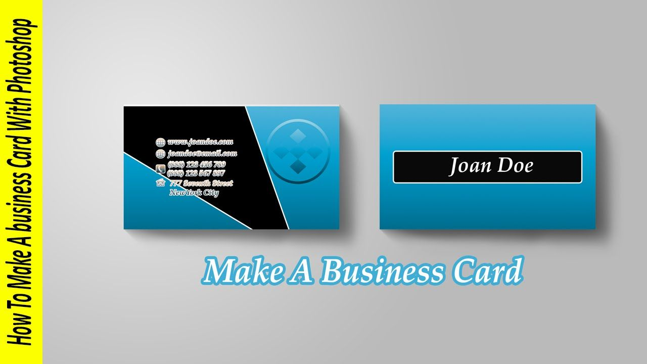 How To Make A Business Card In Photoshop Inside Create Business Card Template Photos Business Card Template Photoshop Create Business Cards Make Business Cards