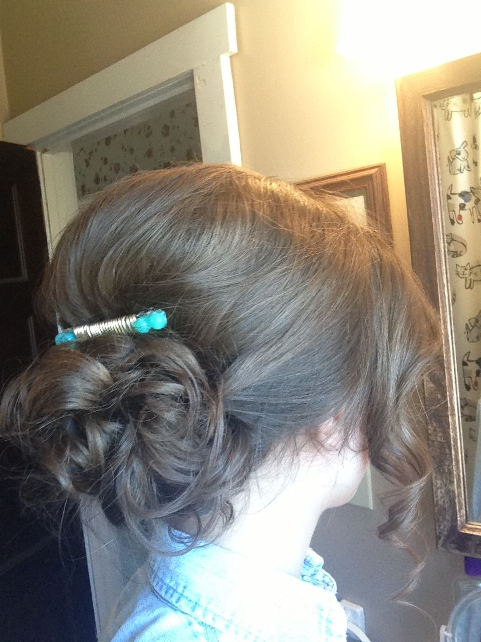 Low updo for prom