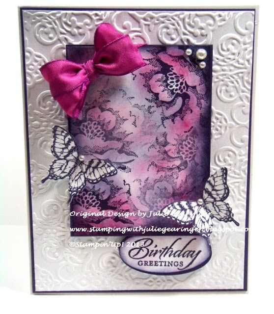 Stamping with Julie Gearinger: Papillon Potpourri