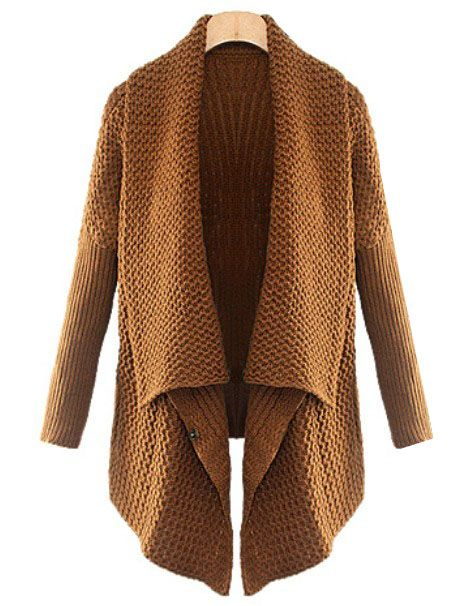 Brown Batwing Long Sleeve Loose Cardigan: love this cozy sweater ...
