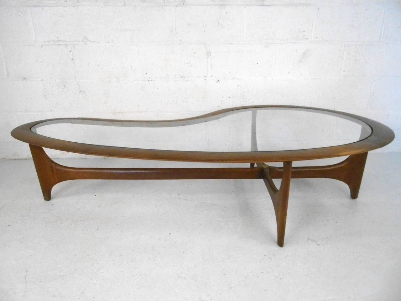 Mid Century Modern Pearsall Style Kidney Coffee Table By Lane
