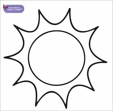 Resultado De Imagem Para Molde De Sol Para Imprimir Imagenes De Soles Sol Para Colorear Almohadas De Emoticones