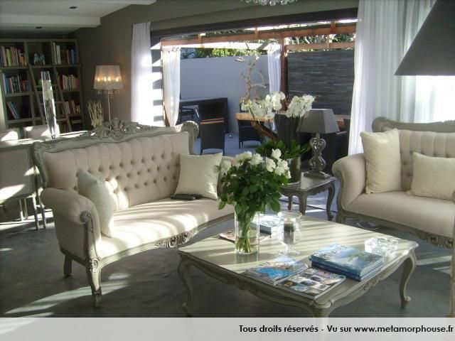 Photos décoration de Salon, salle à manger Exotique Tropical Brun ...