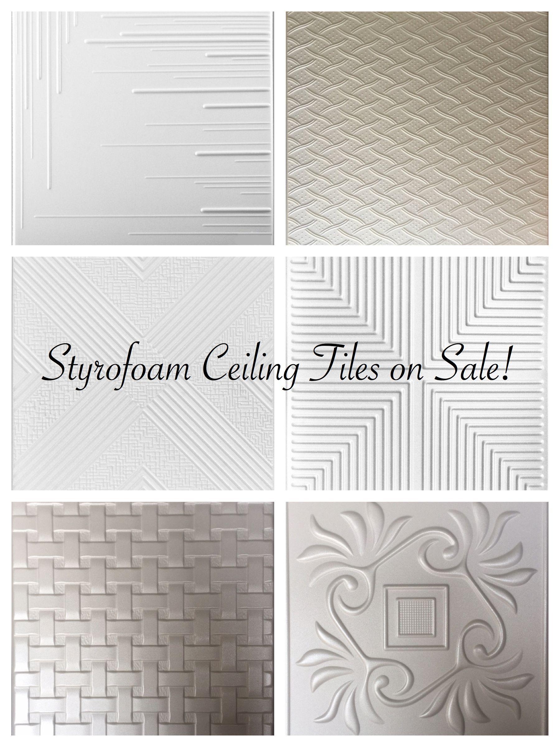 Decorative Ceiling Tiles Sale Styrofoam Faux Leather Tiles Fauxtintiles Com In 2020 Basement Ceiling Styrofoam Ceiling Tiles Ceiling Tiles