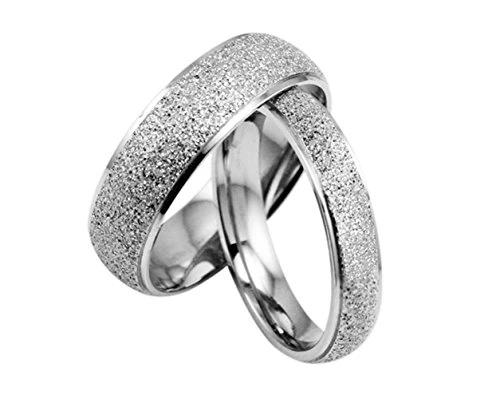 Width 6mm /& 4mm Men Ring Size 4 15 Women Ring Size Gemini Groom /& Bride Matching 18K Gold Filled Anniversary Wedding Titanium Rings Set