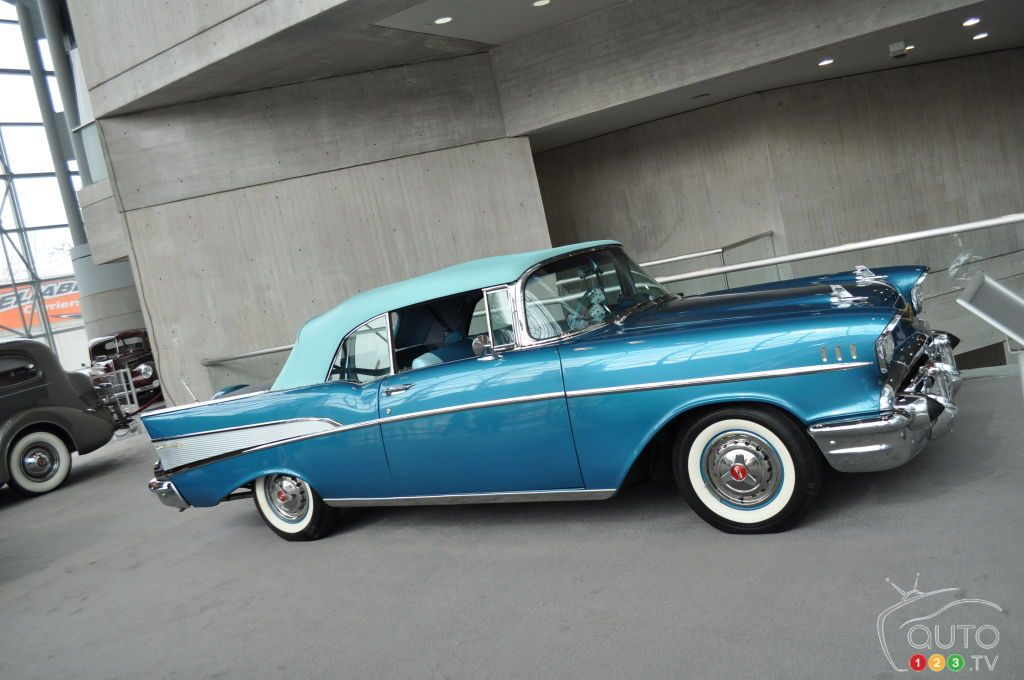 2016 NYIAS: Top 10 classic cars   1957 Chevy BelAir convertible ...