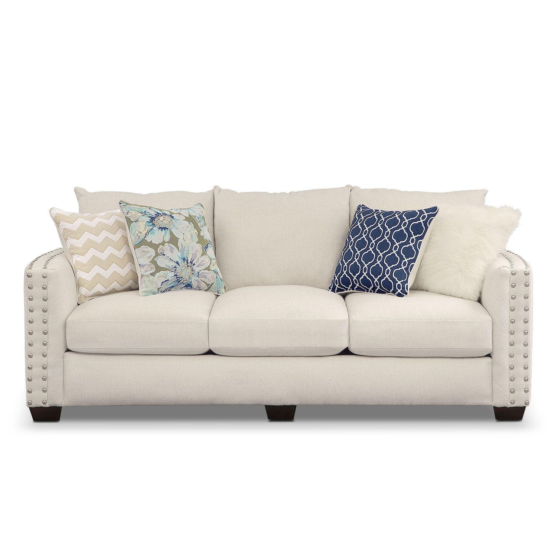 Lolita Sofa | Value City Furniture | Coastal & Nautical Takeover ...