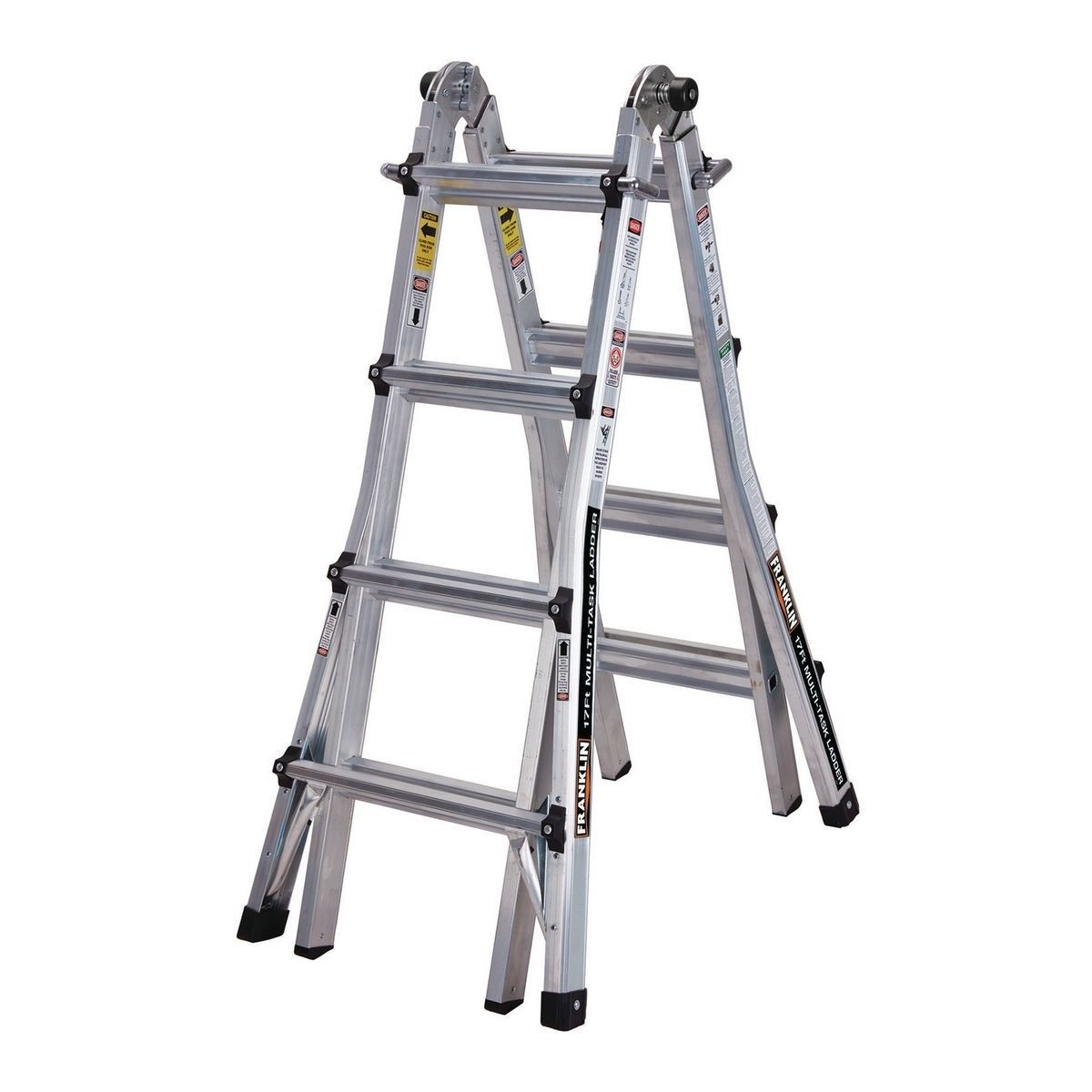 Equal Foldable Multipurpose Aluminium Super Ladder With 2 Scaffolding Platform Shelf 12 Feet In 2020 Ladder Aluminium Ladder Multi Purpose Ladder