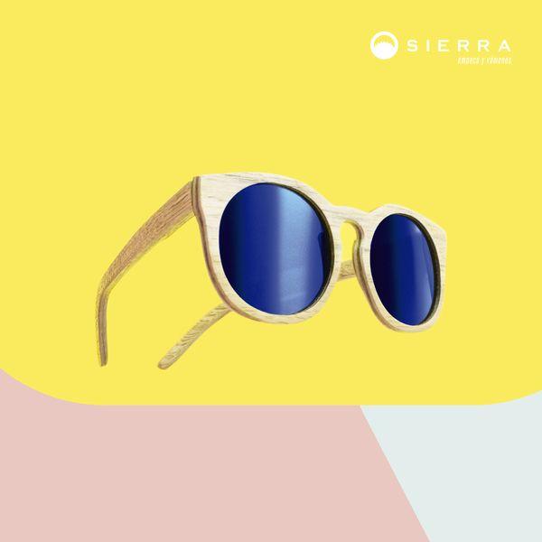 Hermosas gafas de sol con marco de madera. Hechas en Colombia.  Beautiful wooden frame sunglasses.  Made in Colombia.