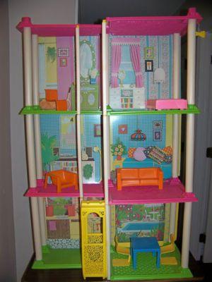 """Vintage 1973 Barbie Townhouse Apartment Replacement Floor Columns 14/"""" SINGLE"""