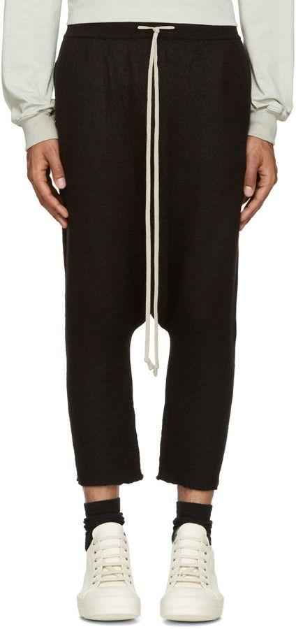 Rick Owens Black Cashmere Lounge Pants