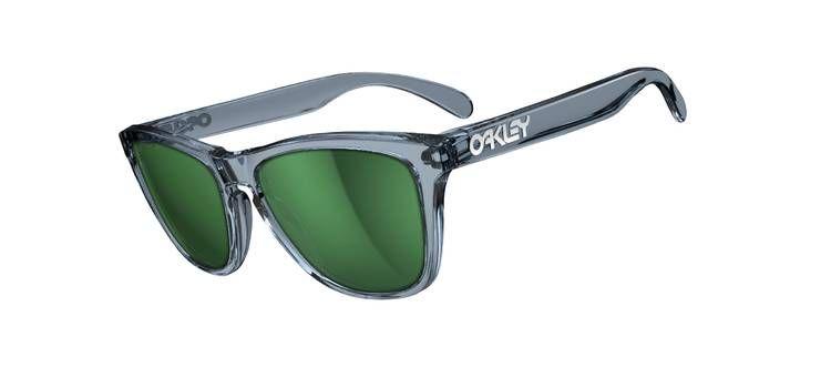 6ab6eee950 Oakley Frogskins in Crystal Black Emerald Iridium