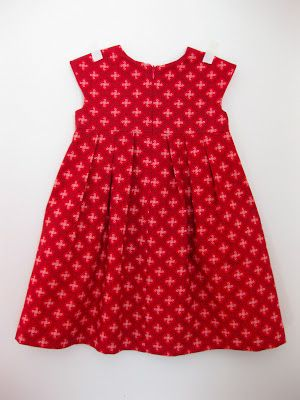 thirtynine: Kids' Clothes Week Project 2: Red Geranium with an invisible zip