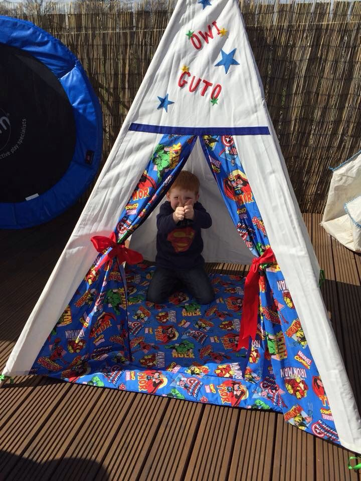 Superhero in his teepee & Made to Order - Superhero Themed Magical Teepee - Is it a bird ...