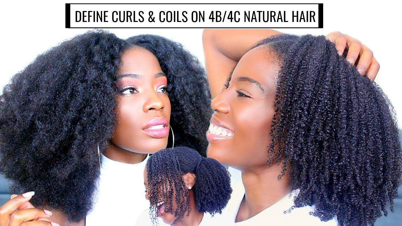 Define Curls & Coils on 4b/4c Natural Hair + Nighttime routine⎢Boucles s... | Natural hair ...