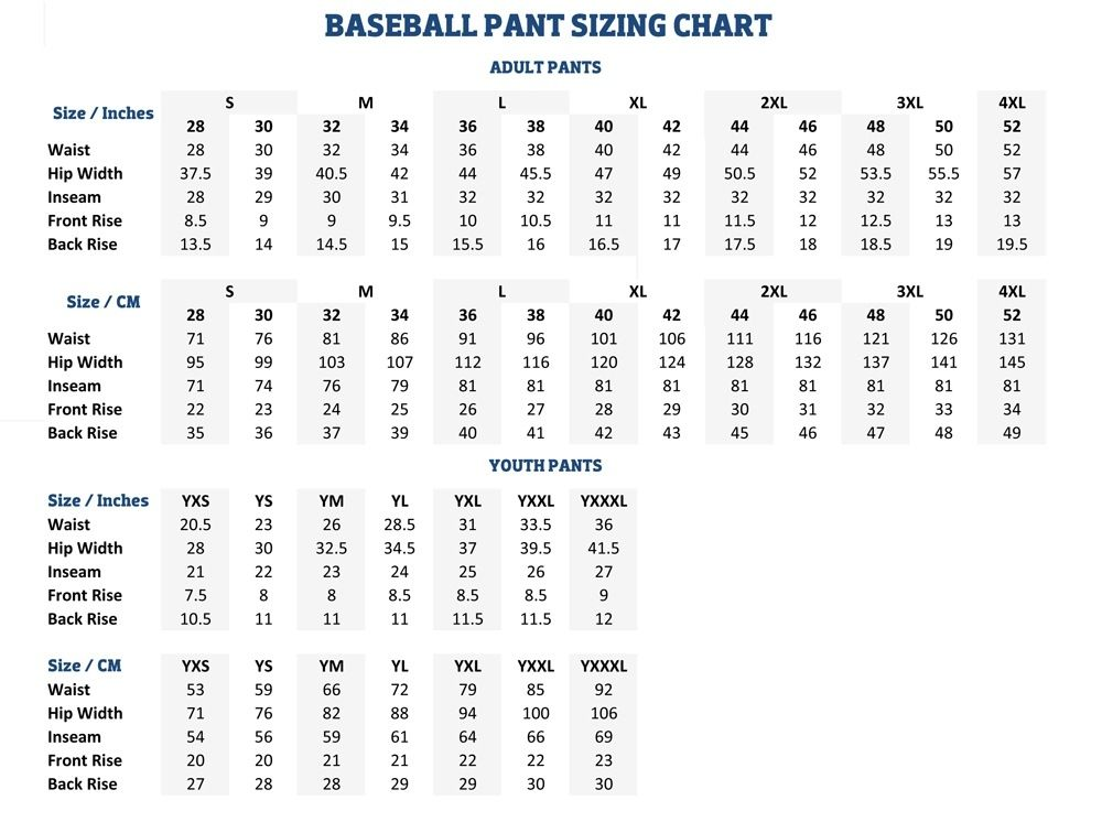Wilson Youth Football Pants Size Chart In 2020 Nike Baseball Pants Baseball Pants Football Pants