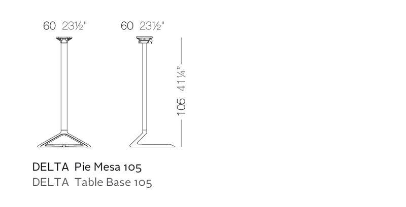 Delta Table Base H 105cm By Jorge Pensi Tables Vondom