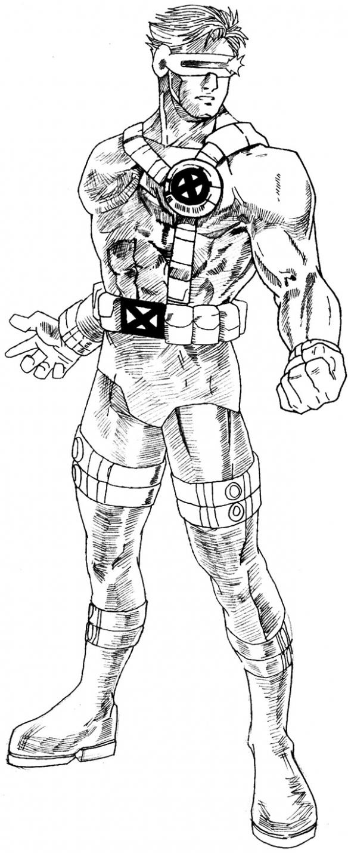 X Men Cyclops Drawings How to draw Cyclops fr...
