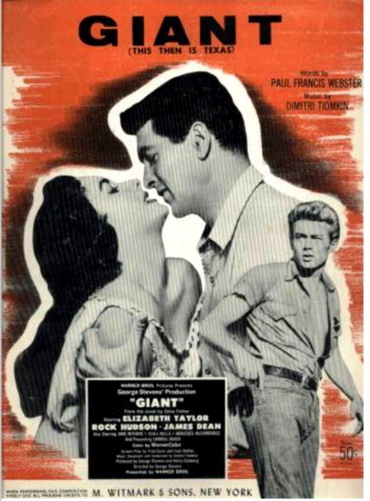 jackstune�giant� movie sheet music 1956 elizabeth