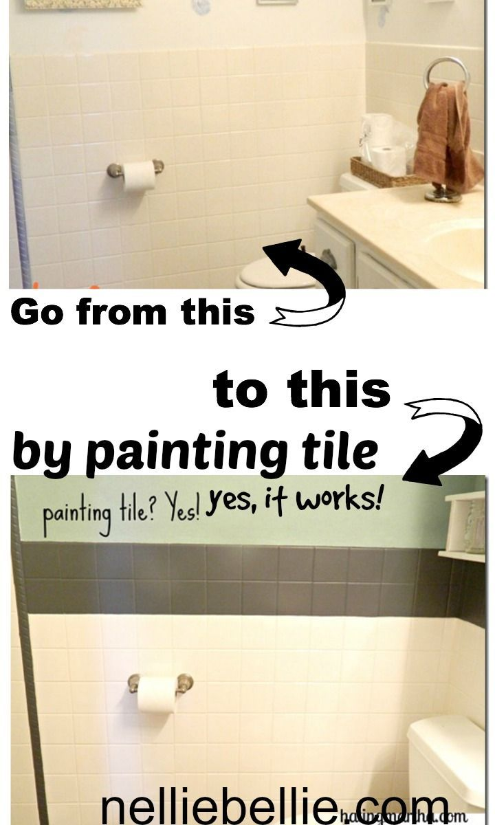 Painting Tile, a tutorial from | Affordable home updates | Pinterest ...