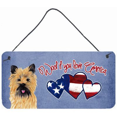 Caroline's Treasures Woof if you love America Cairn Terrier by Sylvia Corban Painting Print Plaque