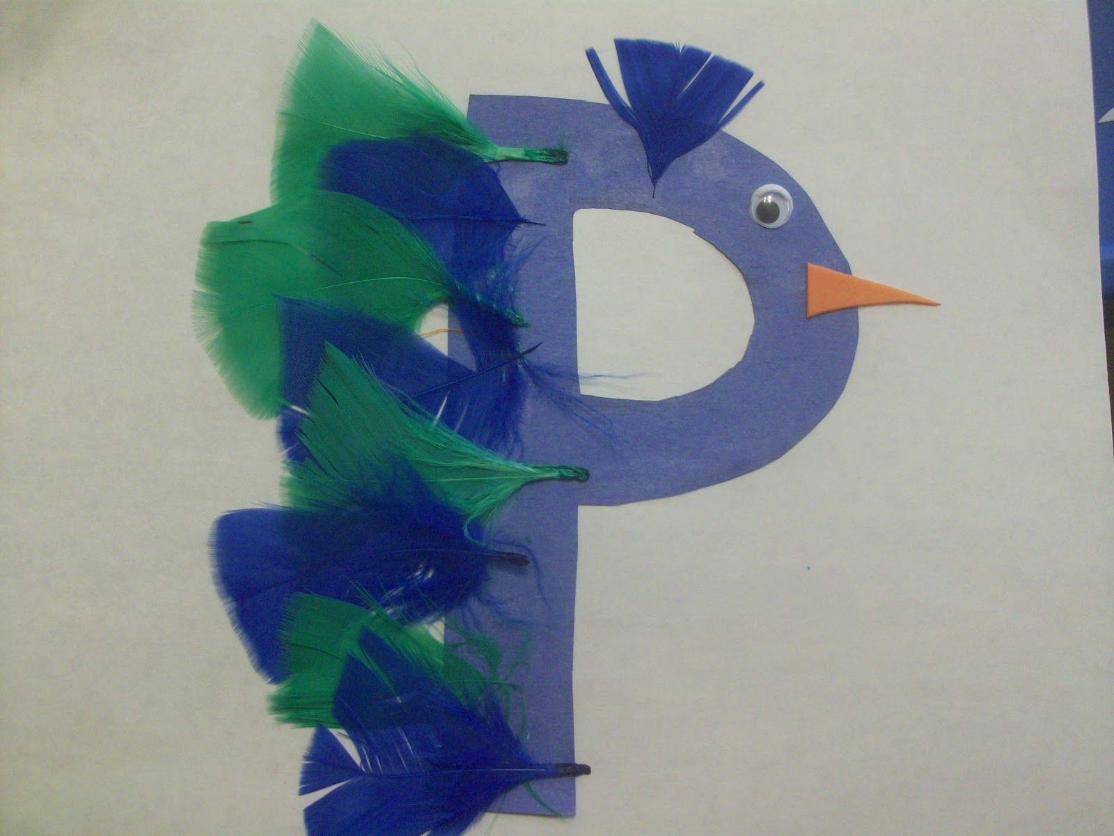 P is for Peacock  Get Er Done Momma Tot School Letter P