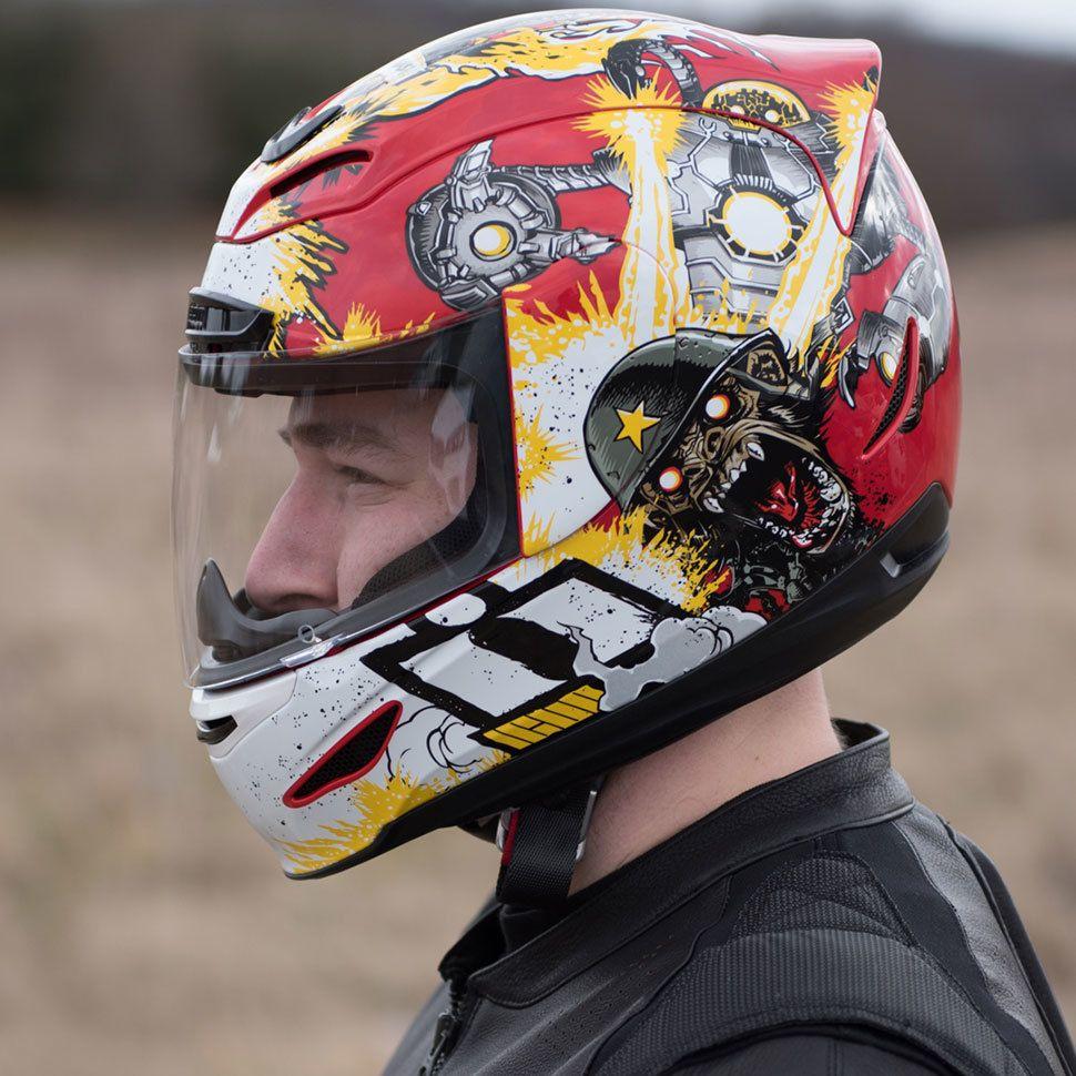 Car amp bike fanatics suzuki m50 bobber bike - Icon Airmada Monkey Business Helmet