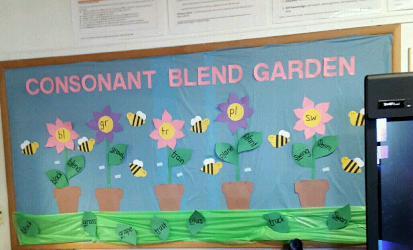 Spring Time Consonant Blend Word Wall