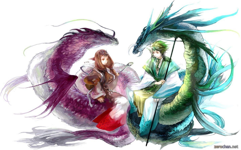 Anime dragon art couple Hd anime wallpapers, Anime