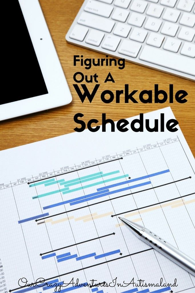 Figuring out a workable schedule (With images